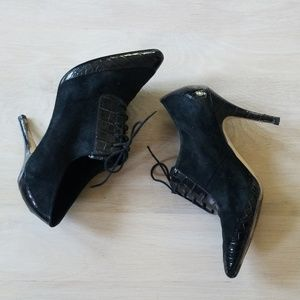 Banana Republic Leather and Suede Lace Booties